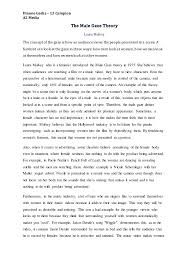 laura mulvey the male gaze theory essay dianne gadia 13 campion a2 media the male gaze theory laura mulvey the concept of