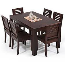wooden dining furniture. Arabia - Capra 6 Seater Dining Table Set (Mahogany Finish) By Urban Ladder Wooden Furniture