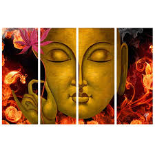 ray dcor s multiple sparkling buddha painting 4 frames