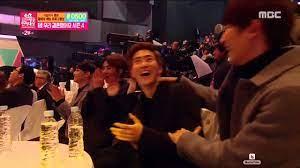 Exo reaction to KSY Couple kiss in MBC Entertainment Awards 2015 - YouTube