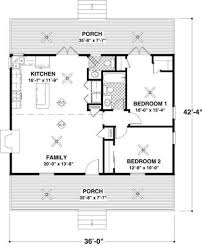 Small 2 Bedroom 2 Bath House Plans Cottage 2 Beds 15 Baths 954 Sq Ft Plan 56 547 Main Floor Plan