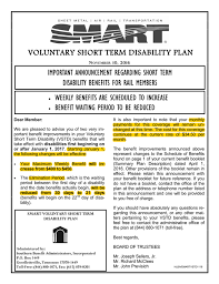 Short Term Disability Disability Insurance Policies Smart Local 506