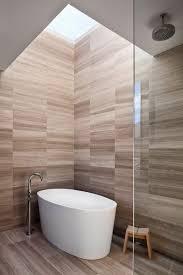Moderne Badezimmer Fliesen Creme Braun Begehbare Dusche Glaswand