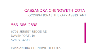 1649693391 NPI Number | CASSANDRA CHENOWETH COTA | DAVENPORT, IA ...