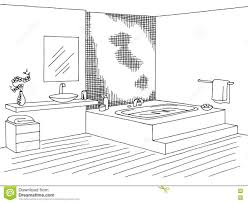 bathroom clipart black and white home design