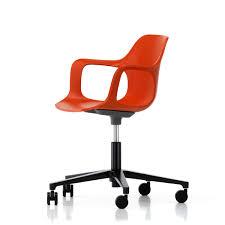 hal studio office swivel chair by vitra in red orange