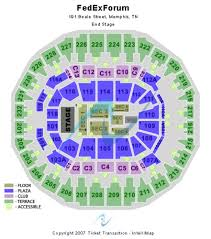 65 Up To Date Fedex Forum Seat Chart