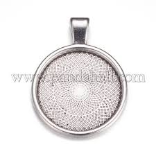metal alloy pendant cabochon settings palloy a15654 as 1