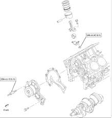isuzu engine troque specifications crankshaft main bearing flywheel crankcase oil pan timing belt tensioner timing pulley timing cover oil gallery oil strainer and water pump