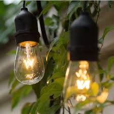 Industrial String Lights Us 65 25 Free Shipping Black 14 4m Long Exterior Industrial Retro Gazebo String Lights Romantic For Outdoor Include 15pc Vintage Led Bulb In Led