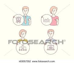 Growth Chart Reward And Restructuring Icons Online