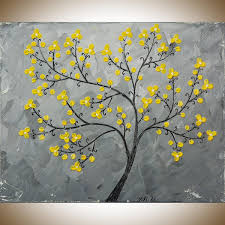 neoteric grey and yellow wall art idea gray explore 18 of 20 photo blossomsqiqigallery 16 x