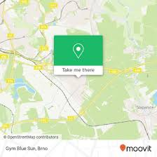How To Get To Gym Blue Sun In Brno By Bus Train Trolleybus Or Tram
