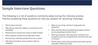 Sample Interview Questions Kelleyconnect Kelley School Of Business