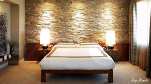 Small Bedroom Curtains Inspiring And Earthy Bedroom Accent Wall With Sandstone Walls