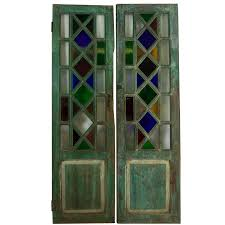 vintage stained glass doors for