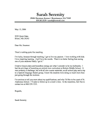 It Cover Letter Sample Sample Cover Letters For Teaching With Regard