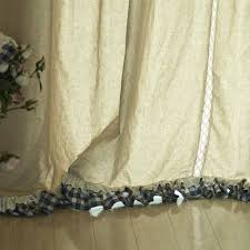 image of country ruffled curtains on