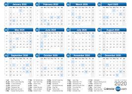 2020 calandars 2020 calendar