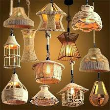 hanging pendant lights retro loft vintage hemp rope light lamp lamps for retro rope hanging lamps