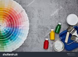 Cool Life Paint Color Chart Color Palette Guide Painting Accessories Paint Stock Photo