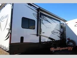 heartland torque toy hauler travel trailer side patio