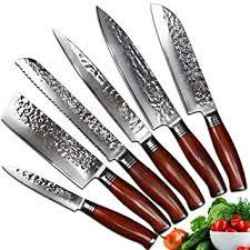 Yarenh Set Couteau Cuisine Professionnel 6 Pièces Lame En Acier De