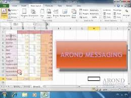 Excel Themes Using Excel 2010 Apply A Workbook Theme Youtube