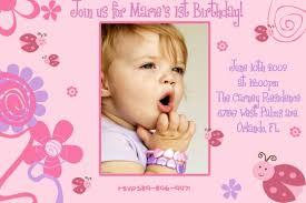 1st birthday card format best baby first birthday invitation templates free eczalinf