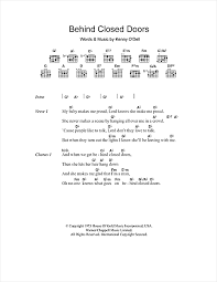 Behind Closed Doors sheet music by Charlie Rich Lyrics & Chords