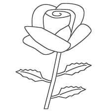 Small Picture Coloring Pages Draw A Rose For Kids Rose Flower Coloring Page