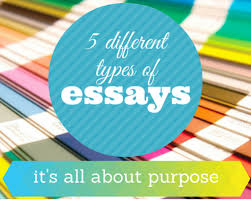 different types of essays it s all about purpose