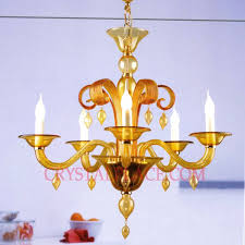 6 lights amber crystal chandelier w 30 in x h 24 in