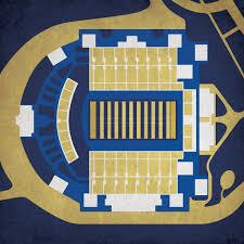Navy Marine Corps Memorial Stadium Map Art