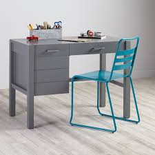 uptown modern kids' desk (grey)  the land of nod