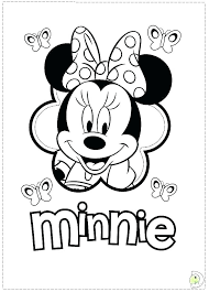 Mini Mouse Coloring Page Mickey Mouse Coloring Pages New Mini Mouse