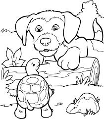 Kleurplaat Hond En Schildpad Kleurplaatjenl Beste Kleurplaten 55