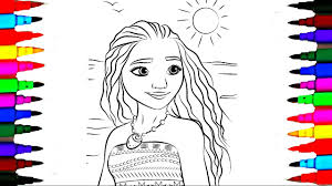 Disney Princess Moana Drawing Pages To Color For Kids L Coloring