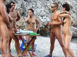 Beach erections cocks girls