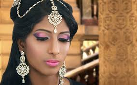 peach pink and purple bridal makeup tutorial for uneven skin tones for south indian asian skin you