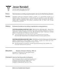 Bistrun : Certified Nursing Assistant Resume Examples Samples Of ...