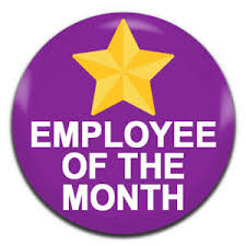 Emploee Of The Month Details About Employee Of The Month Purple 25mm 1 Inch D Pin Button Badge