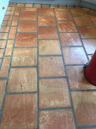 we started by removing the old sealers with an alkaline based cleaner then using a rotary machine with abrasive pads to deep clean and remove the most