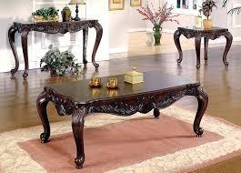creed i dark cherry coffee table traditional set wood