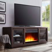 tv fireplace stand. better homes and gardens steele media fireplace console, espresso finish tv stand