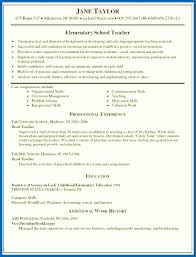 Sample Teaching Resume Resume Skills Examples For Teachers Sample Of Teaching Resume 37