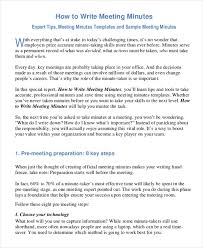 how to take minutes for a meeting template 29 minutes writing template free sample example format