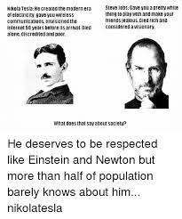 Nikola Tesla He Created The Modern Era Steve Jobs Gave You A Pretty Magnificent Steves Jobs Qur Hd