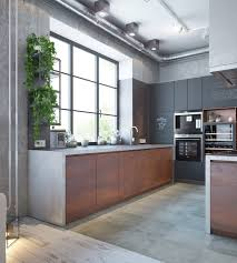 Kitchen Theme For Apartments Modern Apartment Decor With The Industrial And Warm Color Theme