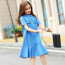 big <b>girls summer dresses 2019</b> teen denim dress teenager clothes ...